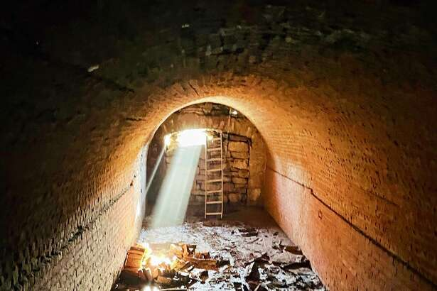 The tunnel entrance was made of limestone and its structure is supported by brick. Historians and the homeowners are baffled at the discovery of the tunnel beneath the property at 322 Langdon Street.