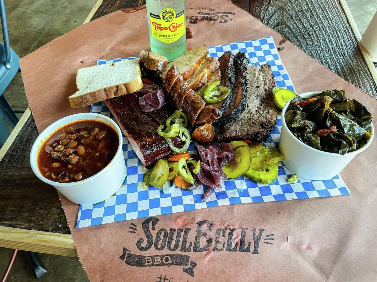 Barbecue tray at SoulBelly BBQ, Las Vegas