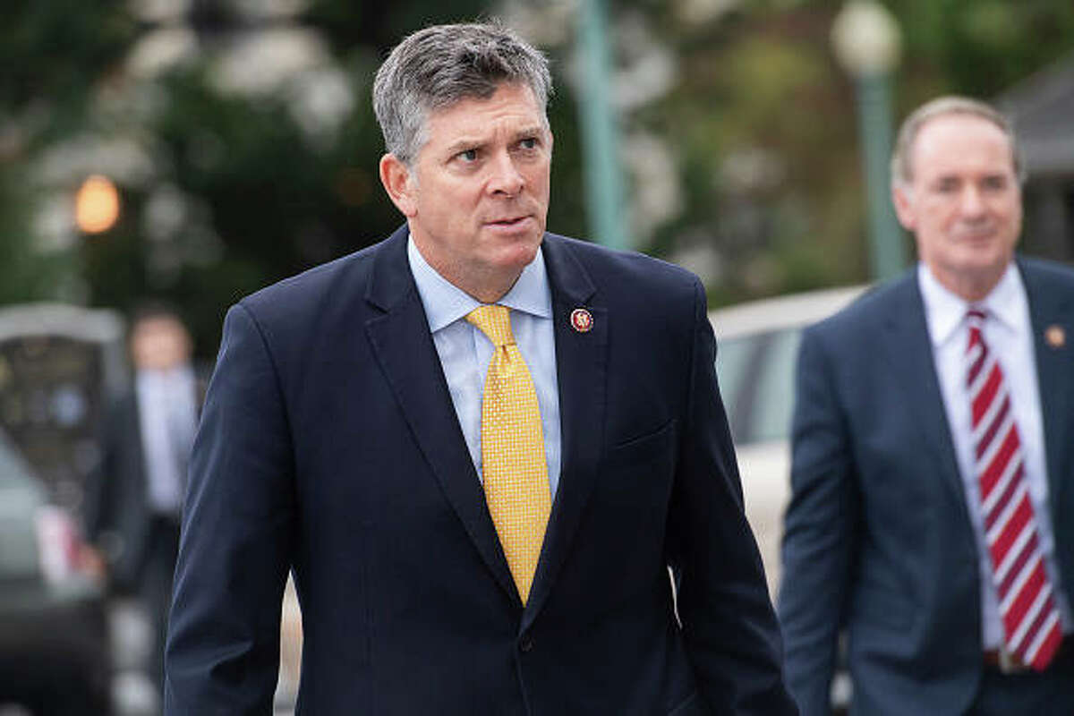 Rep. Darin LaHood arrives to the Capitol in October 2019.