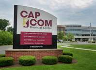 A view of the CAP COM Federal Credit Union & Financial Center on Thursday, July 29, 2021, in Colonie, N.Y.     (Paul Buckowski/Times Union)