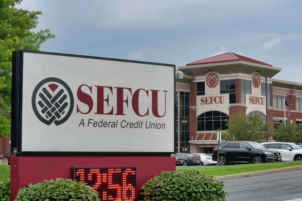 A view of the SEFCU Headquarters on Thursday, July 29, 2021, in Albany, N.Y. (Paul Buckowski/Times Union)