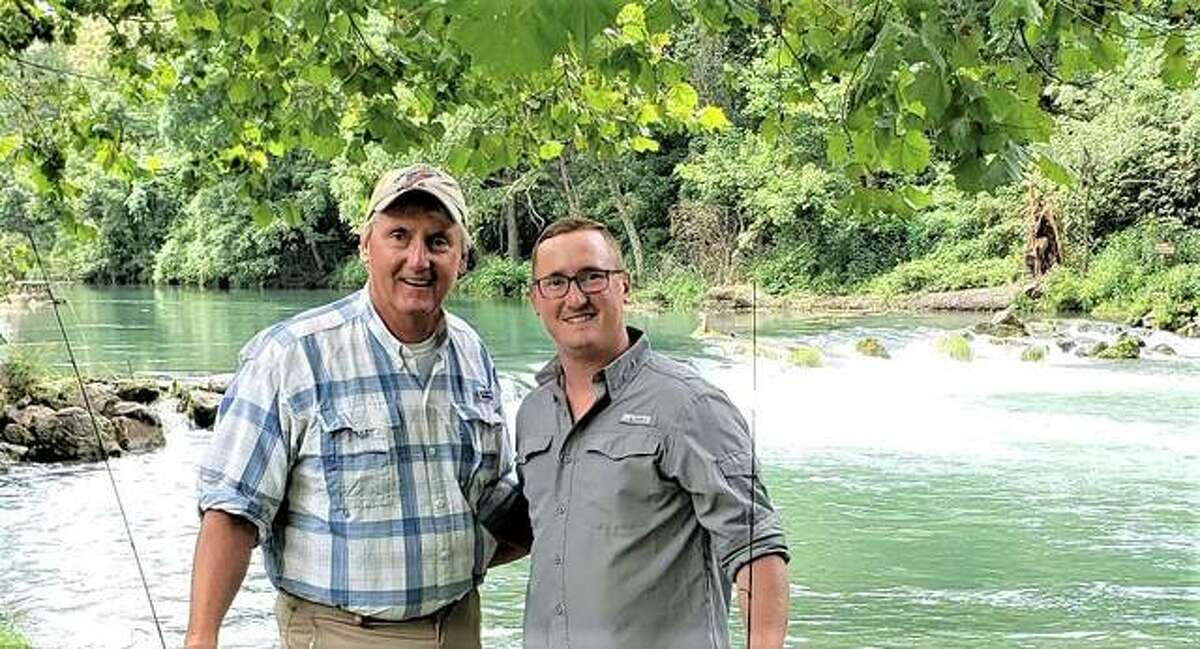 Madison County Circuit Clerk Tom McRae and his son, Deputy Treasurer Patrick McRae, are avid fishermen and are encouraging participation in National Fishing Month in August. For more information visit https://www.nationalfishingmonth.com/.