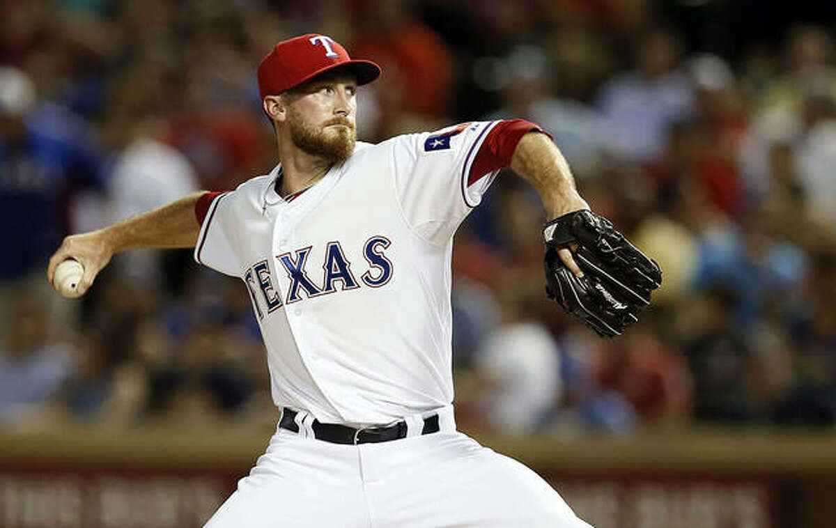 Former SIUE pitcher Patton is pitching from the bullpen for the Texas Rangers. Patton, who played with Texas from 2014-15, was re-signed by the Rangers in spring training. He hadn't pitched in the majors since 2016 with the Chicago Cubs. He spent four seasons playing in Japan.