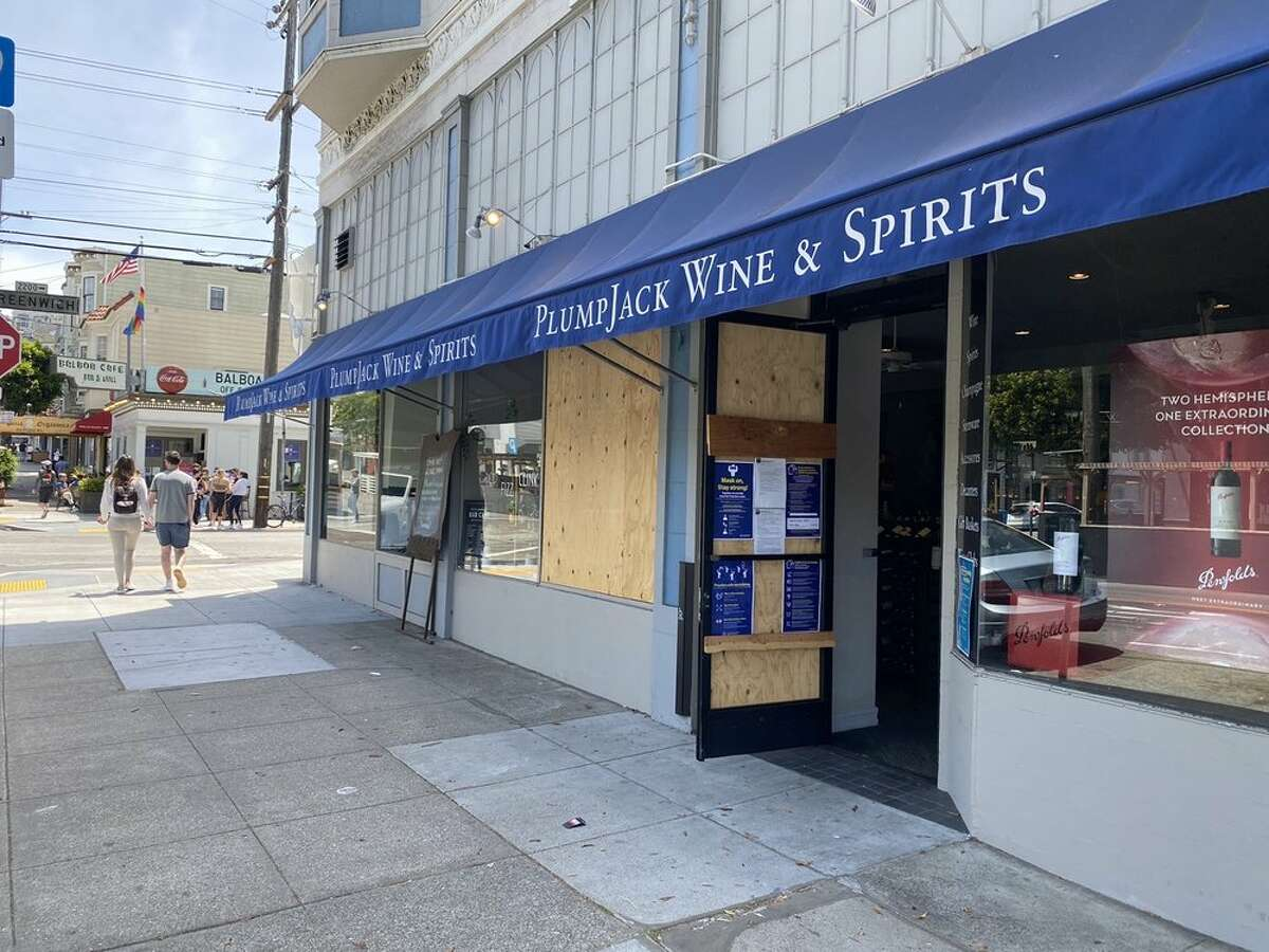 The exterior of PlumpJack Wine and Spirits.