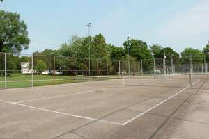 The village of Sebewaing is looking at installing new pickleball courts to the village park, where tennis courts like this one reside. (Robert Creenan/Huron Daily Tribune)