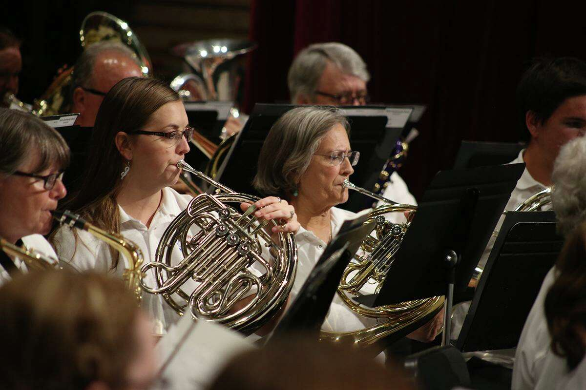 After months away from the stage, members of the Alvin Community College band perform during a May 6 concert.