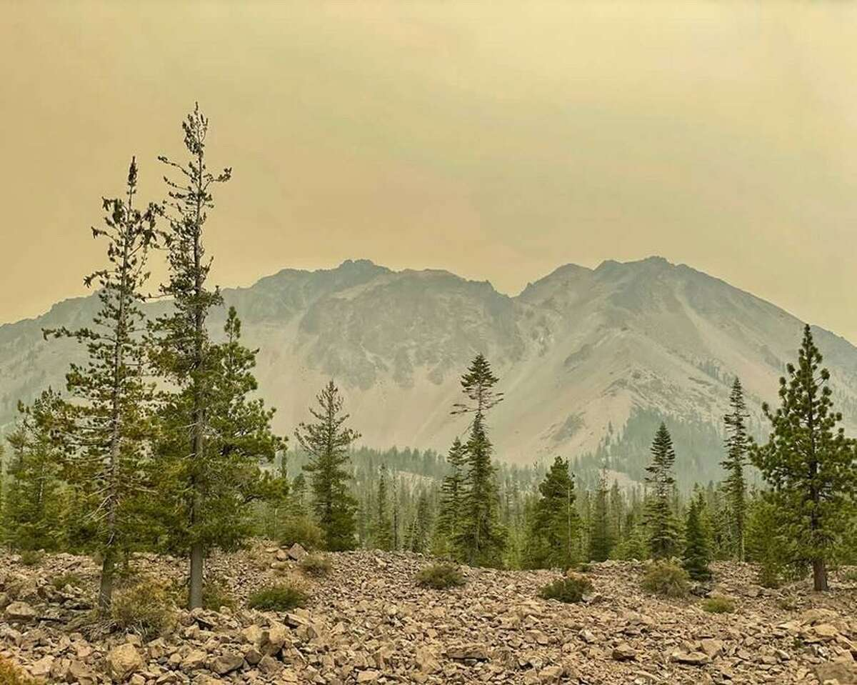 Over the past two weeks, smoke from the Dixie Fire has cast a yellow glow over Lassen Volcanic National Park.
