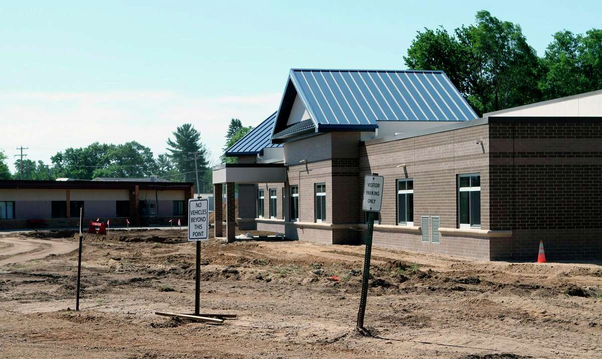 In this June 10, 2021, Pioneer file photo, the new Barryton Elementary School is pictured under construction.Chippewa Hills School District Superintendent Bob Grover said the project is on track to be completed before school starts this year and an open house isset for Aug. 18. (Pioneer file photo)