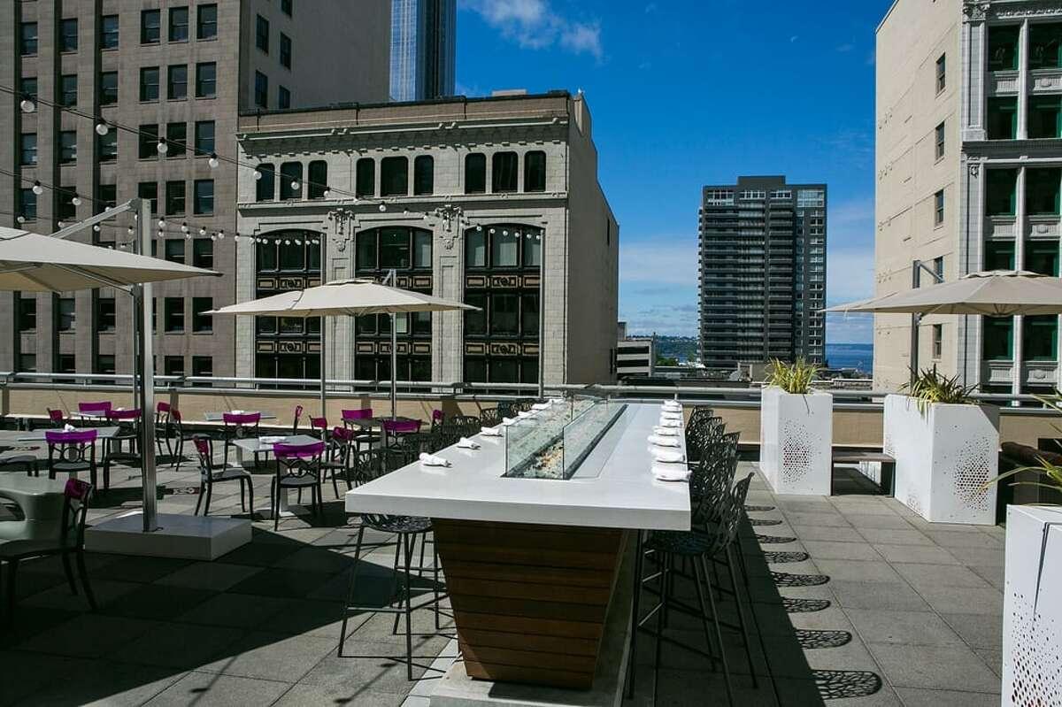 Frolik's rooftop terrace.