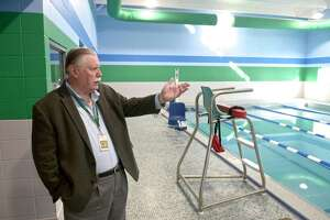 James Maloney, president and CEO of the Connecticut Institute For Communities, Inc, shows the refurbished pool at the Danbury Community Center. Monday, December 23, 2019, in Danbury, Conn. He is stepping down as president and CEO of the organization.