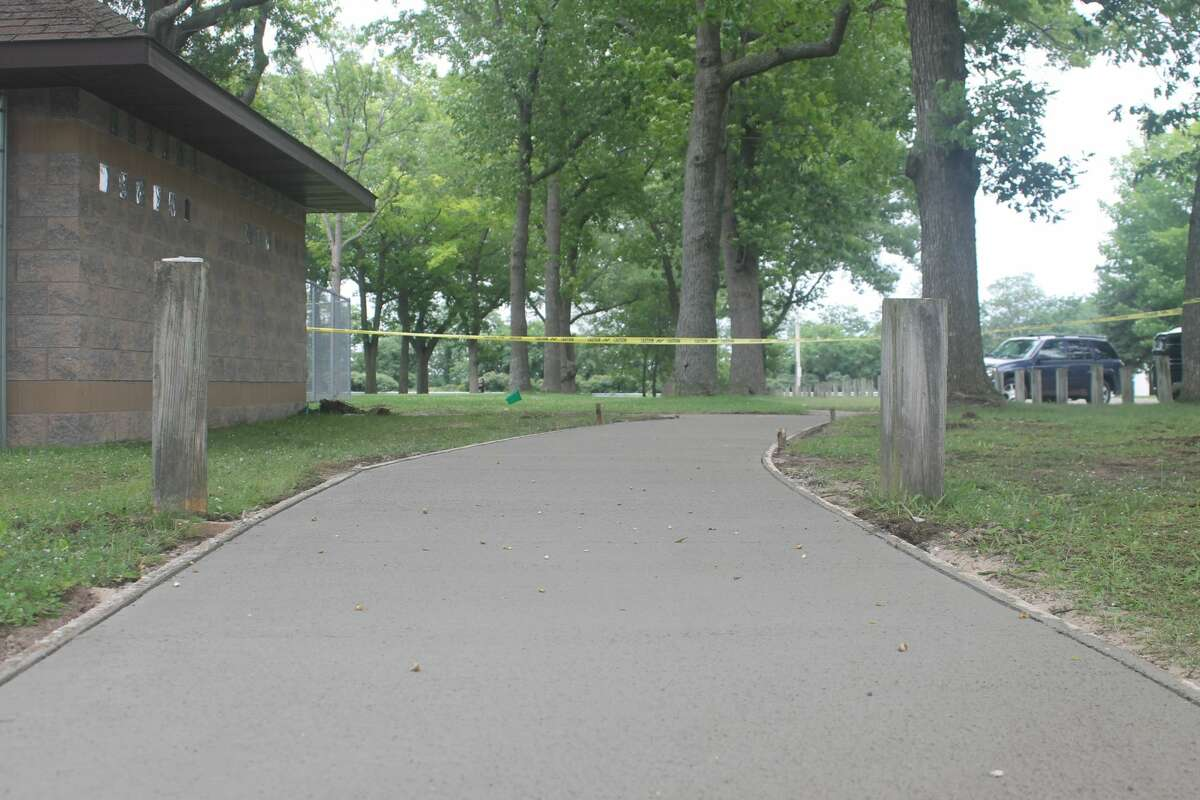 The Manistee Saints had a sidewalk put in at Rietz Park Thursday to make the restrooms more accessible to those suffering from mobility issues.