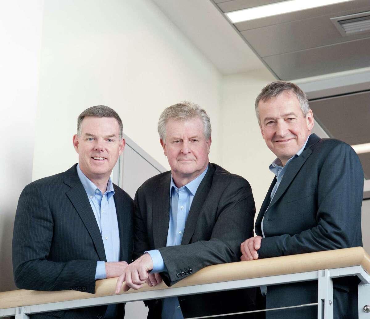 RallyBio co-founders, from left, Jeffrey Fryer, Martin Mackay and Stephen Uden.