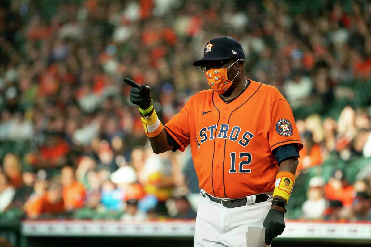 Former Giants manager Dusty Baker leads the Astros into Oracle Park for the opener of a three-game series at 6:45 p.m. Friday (NBCSBA/104.5, 680).