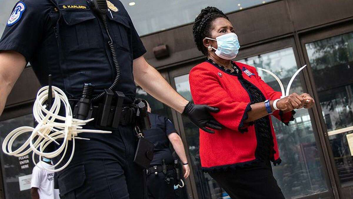 U.S. Rep. Sheila Jackson Lee was arrested while protesting for new voting rights legislation in D.C. on Thursday afternoon.