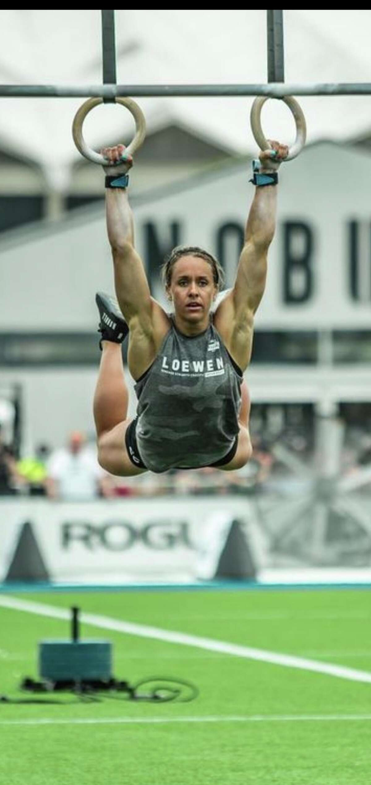 Midland's Arielle Loewen is shown competing at the NOBULL 2021 Crossfit Games.