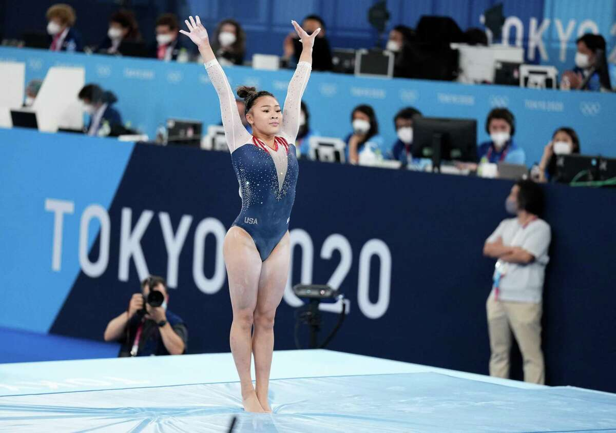 American gymnast Sunisa Lee won the women's all-around competition by just 0.134 points.