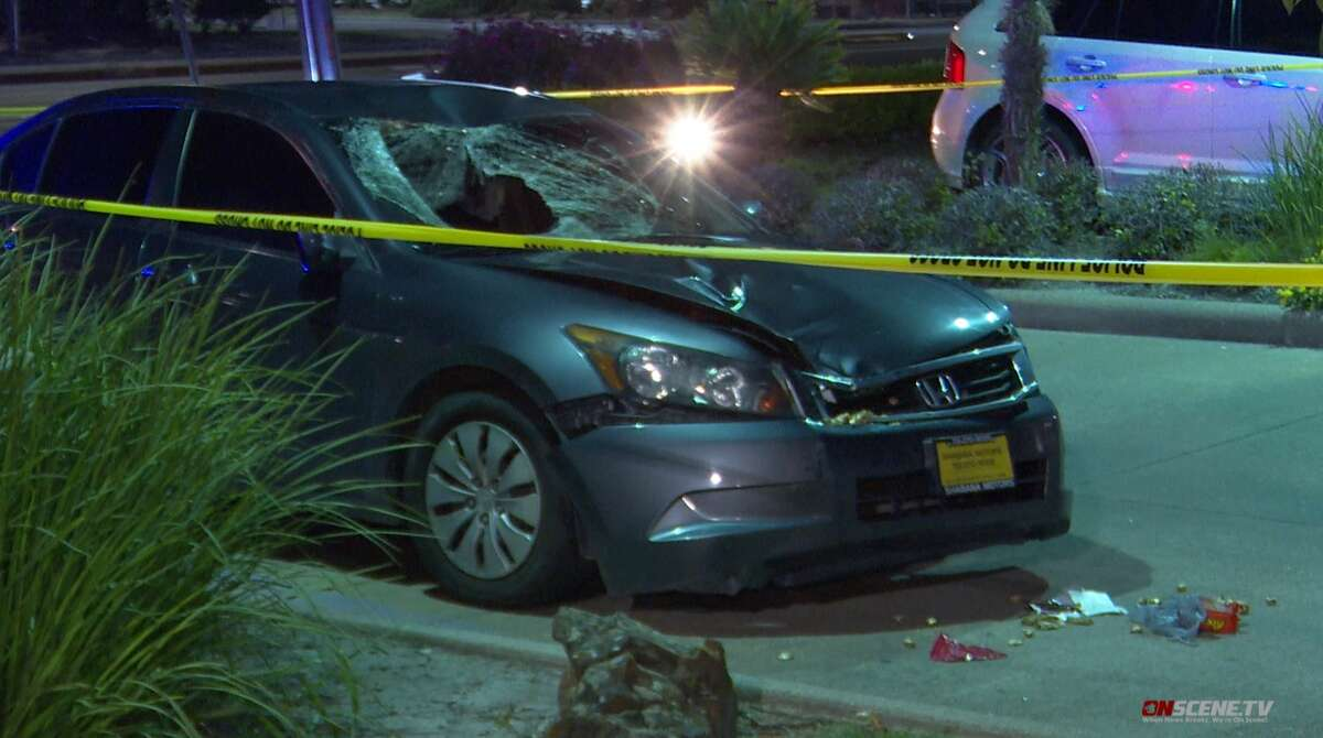 Houston police investigate a fatal accident involving a pedestrian in the 8000 block of Westheimer on July 29, 2021.