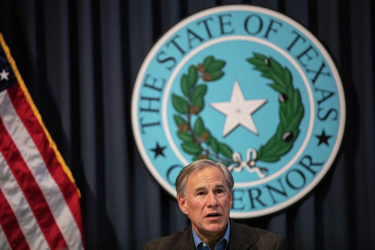 Texas Gov. Greg Abbott speaks during a border security briefing with sheriffs from border communities at the Texas State Capitol on July 10 in Austin, Texas.