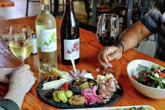A selection of menu items and wines from Rosella Coffee and Wine Bar