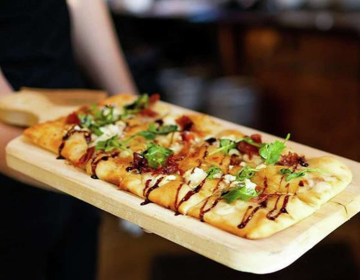 A fig and prosciutto flatbread from Rosella Coffee and Wine Bar