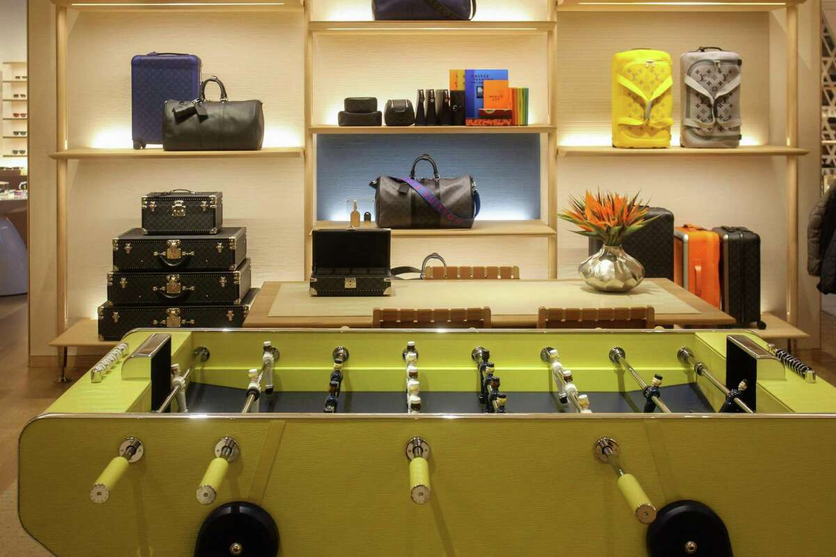 The Louis Vuitton's inaugural Texas men's store in the Galleria in Houston. Incorporating local and global art and cultural elements, innovative materials and architectural design, the space is a visual representation of Louis Vuitton's heritage and craftsmanship. July 29, 2021.