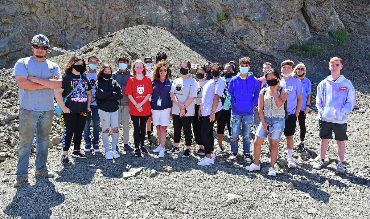 O&GIndustries recently hosted high school students from Meriden Public Schools at their Southbury Quarry. The onsite visit and tour, which included students from Maloney High School and Platt High School, is a part of the Meriden Public School's career outreach program.