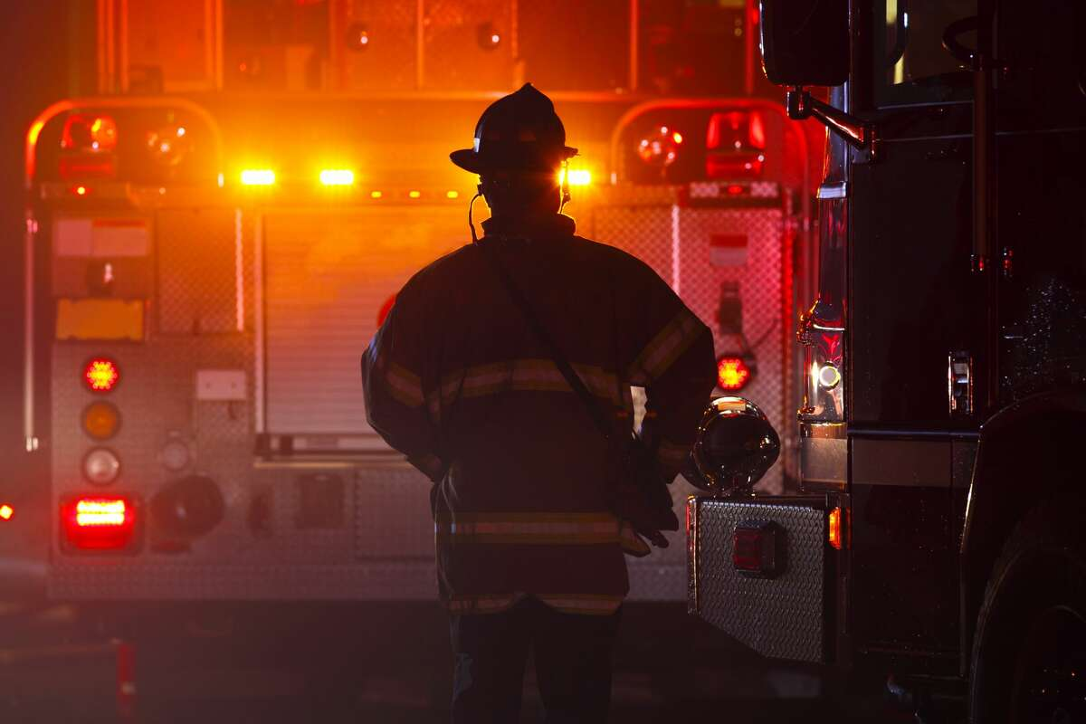 A Reed City brush truck was deemed a total loss Thursday in a fire structure at the fire department.