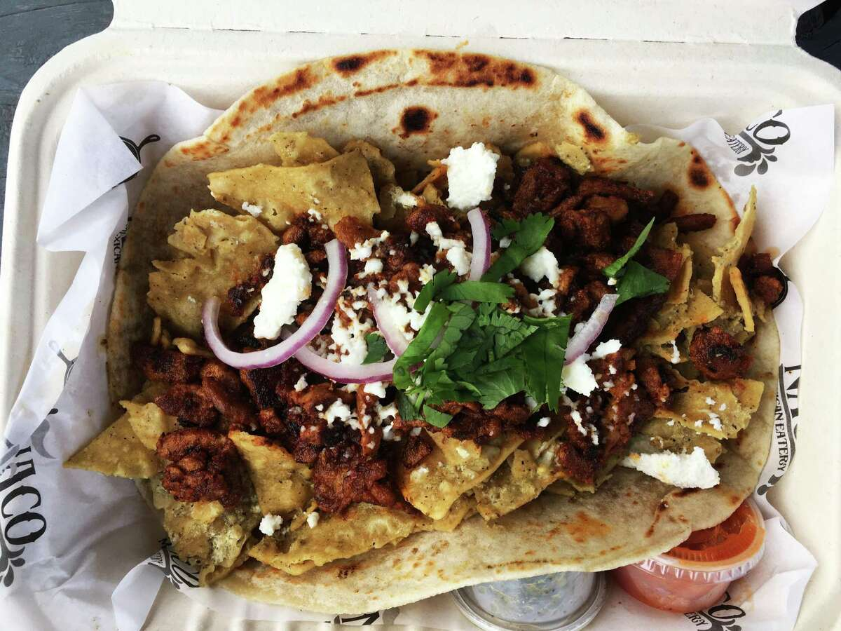 Naco Mexican Eatery features chilaquiles in tacos and tortas.