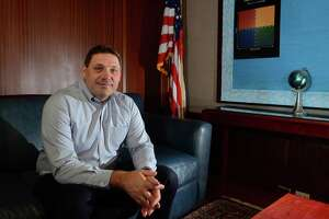 Superintendent of Schools Michael Testani poses in his office at City Hall in Bridgeport, Conn., on Thursday June 27, 2019 when he was still serving in an acting capacity.