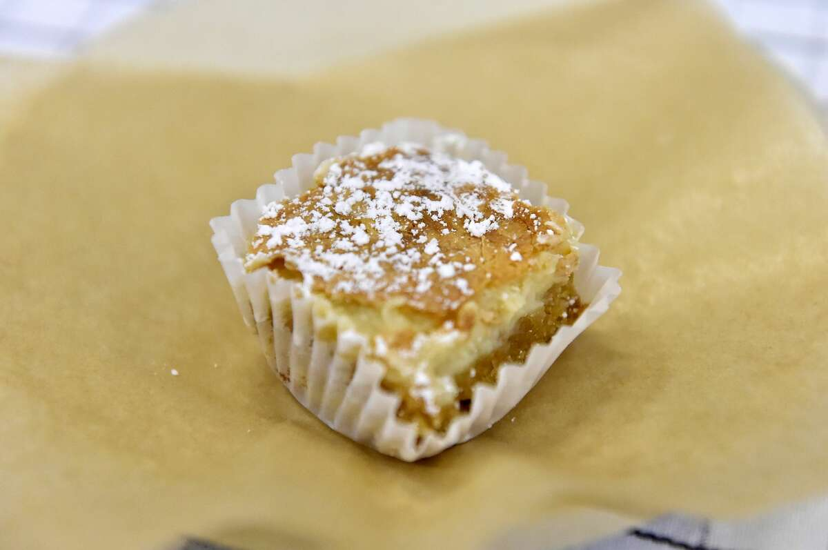 A slice of gooey butter cake at Southern Glazer's Wine & Spirits of New York Trade Tasting (Photo by Mike Coppola/Getty Images for NYCWFF)