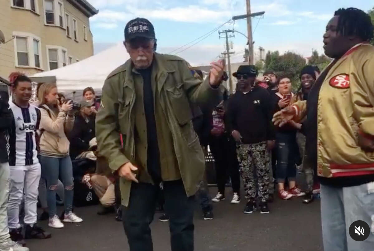 Mike Predovic, 63, dances on his Instagram page.