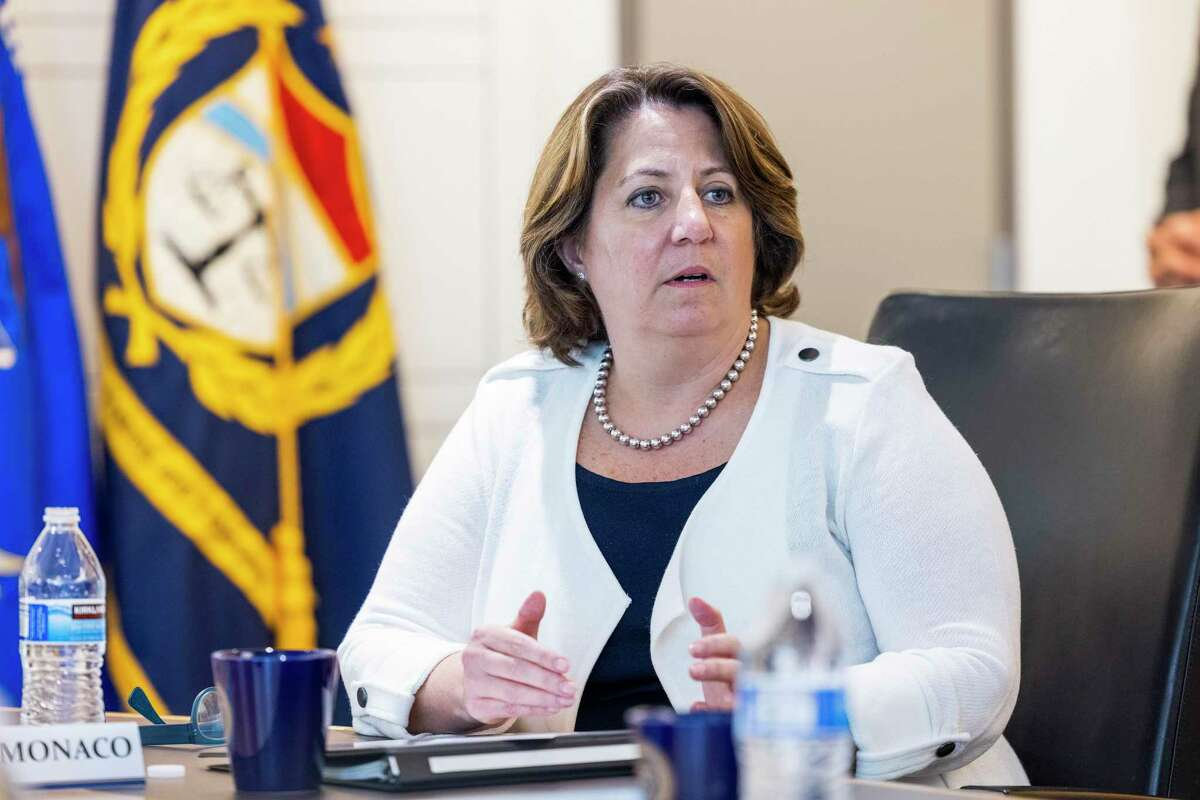 Deputy Attorney General Lisa Monaco speaks at the Bureau of Alcohol, Tobacco and Firearms headquarters in Washington, Thursday, July 22, 2021.