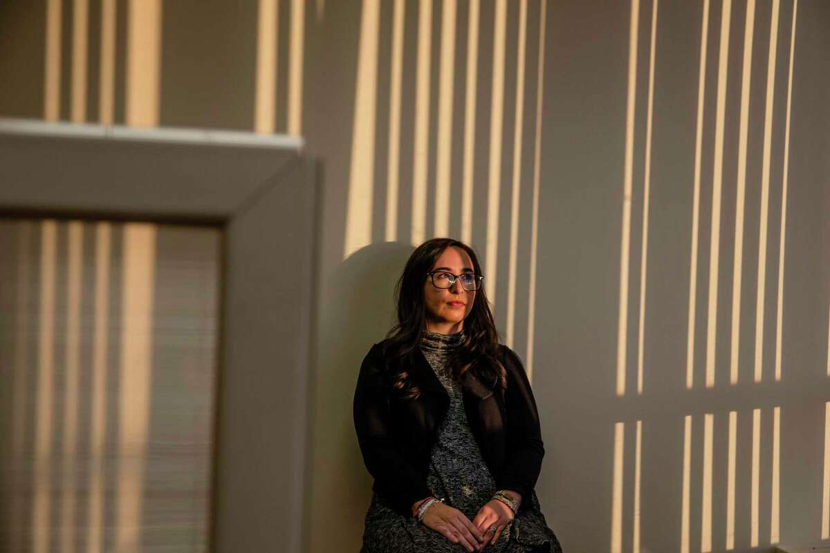 Sophia Genovese, a U.S. immigration attorney, is shown here at her office in Newburgh, N.Y. on Dec. 29, 2020. Genovese and other immigration lawyers have complained about unprofessional and improper behavior on the part of judges presiding over their cases.