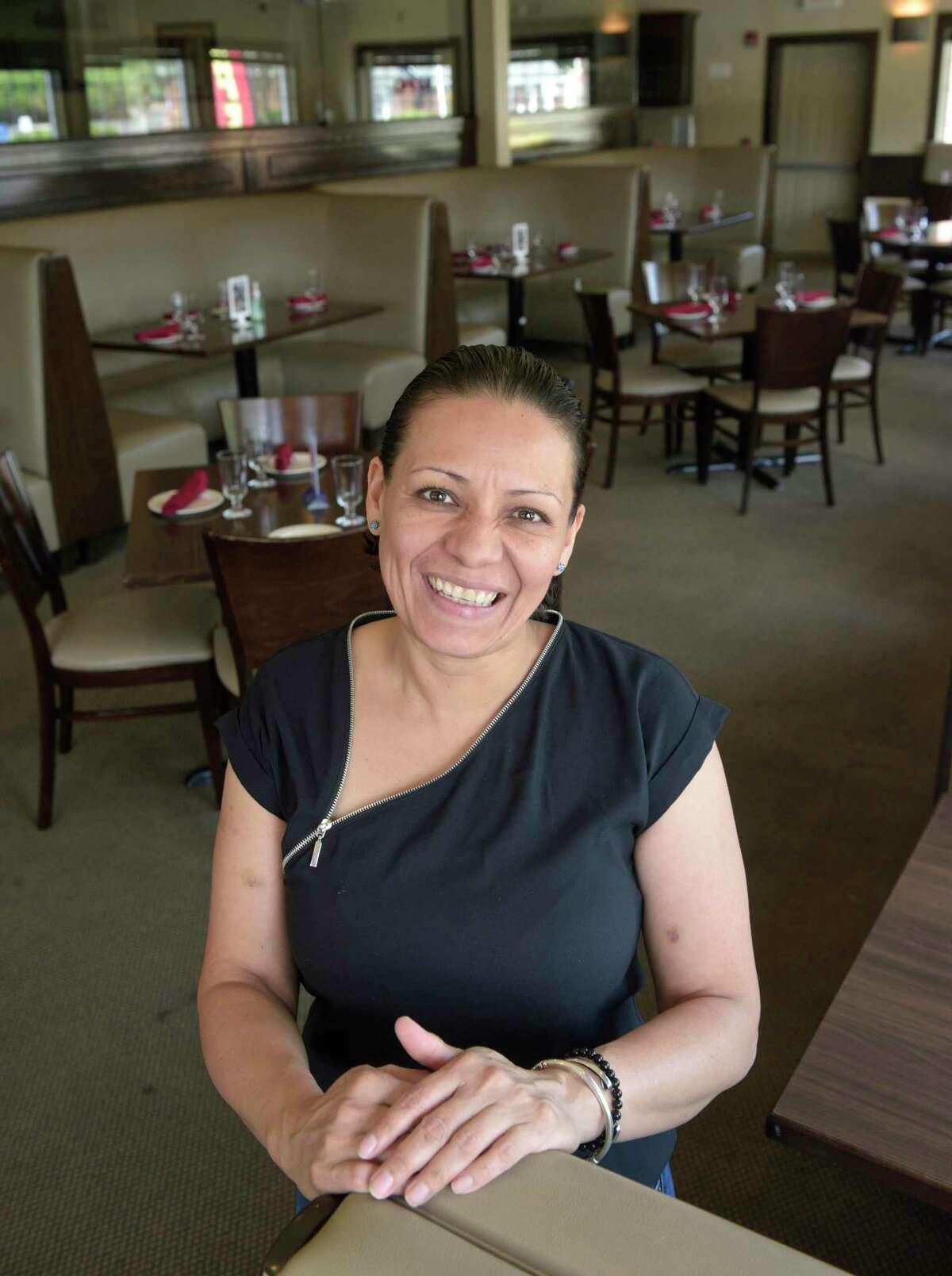 Nancy Mejia, owner, D'Arcos restaurant in Bethel, Conn. Wednesday, July 28, 2021.