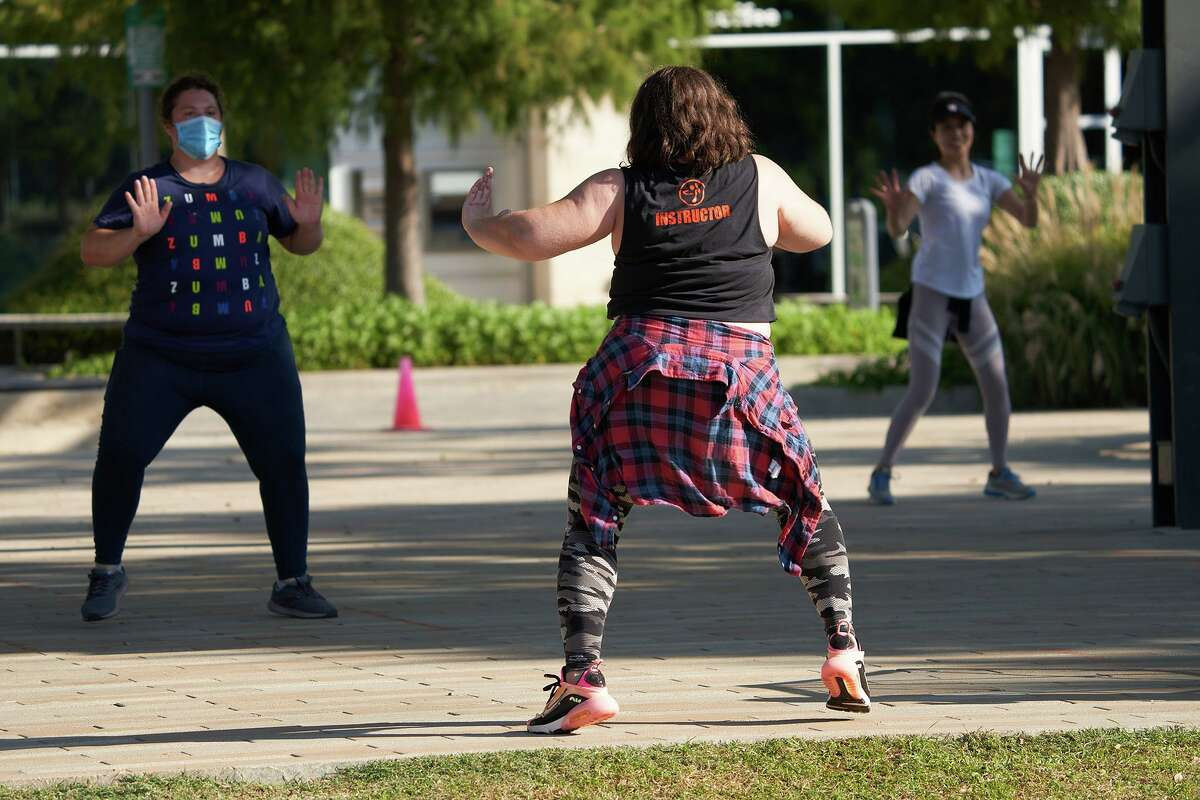 Zumba with Tiny Fitness at Levy Park Houston.