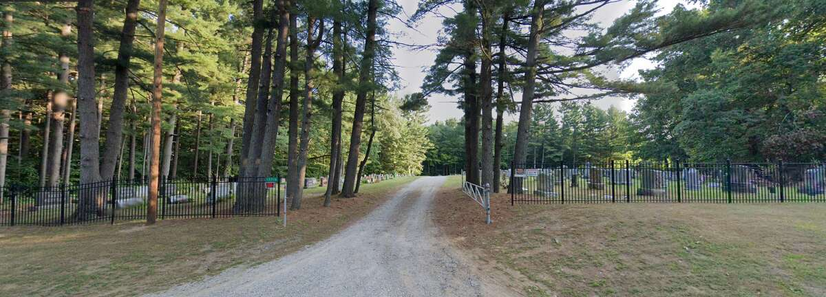 Pictured is the Dice Road Cemetery.
