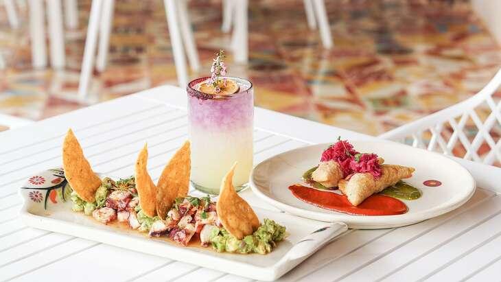 A selection of menu items from The Frutería-Botanero's new menu