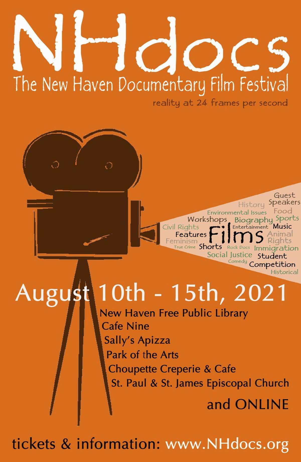 More than 100 films are coming to this year's New Haven Documentary Film Festival August 10 through 15.
