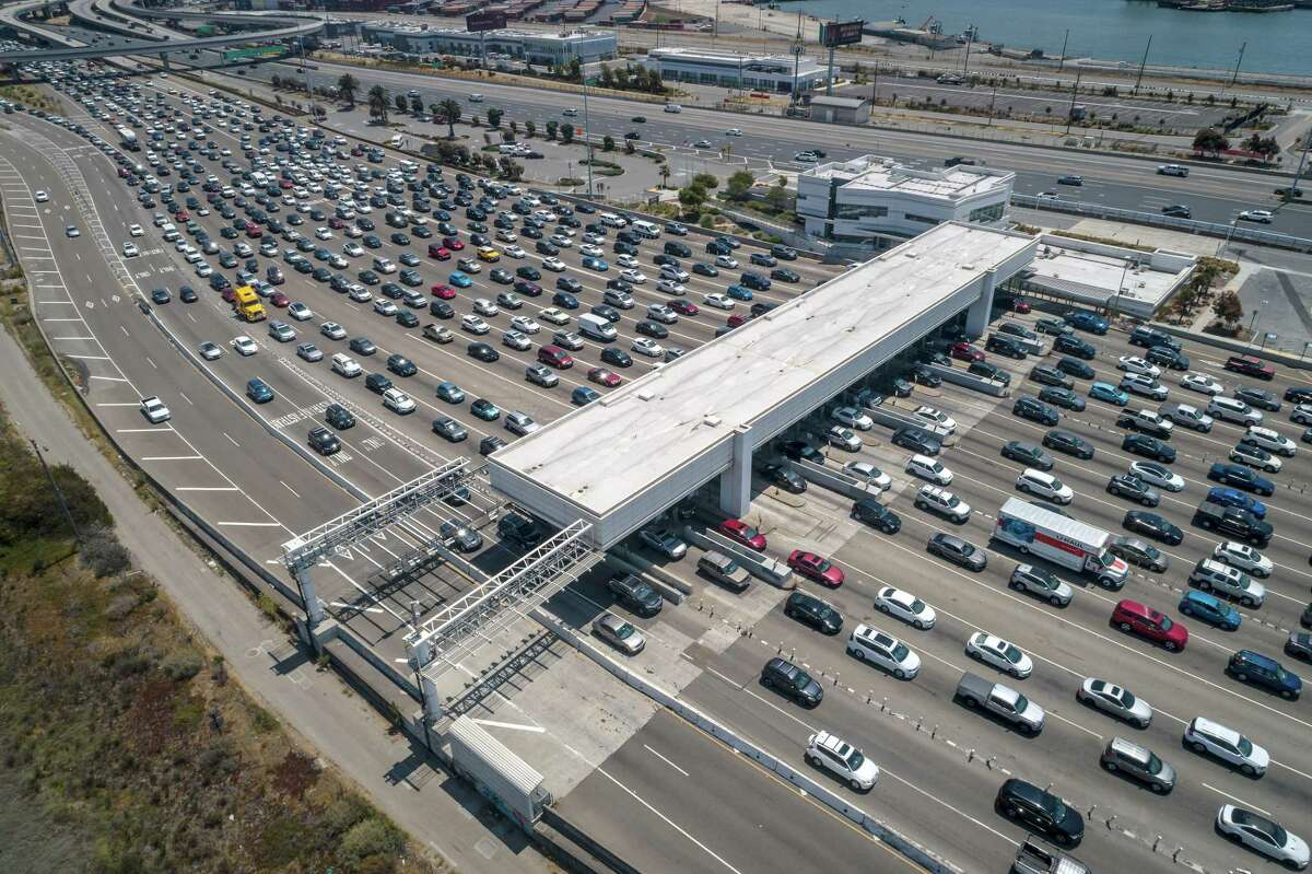 Weekend traffic on the Bay Bridge has been steadily increasing as the Bay Area lifts pandemic restrictions.