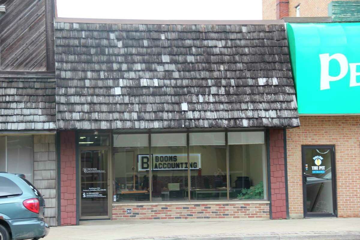 Booms Accounting and Bad Axe Escape received letters from Gov. Whitmer expressing gratitude for work done during the COVID-19 pandemic. Brad Booms, owner of Booms Accounting, said the two ran a food drive early in the pandemic. (Robert Creenan/Huron Daily Tribune)