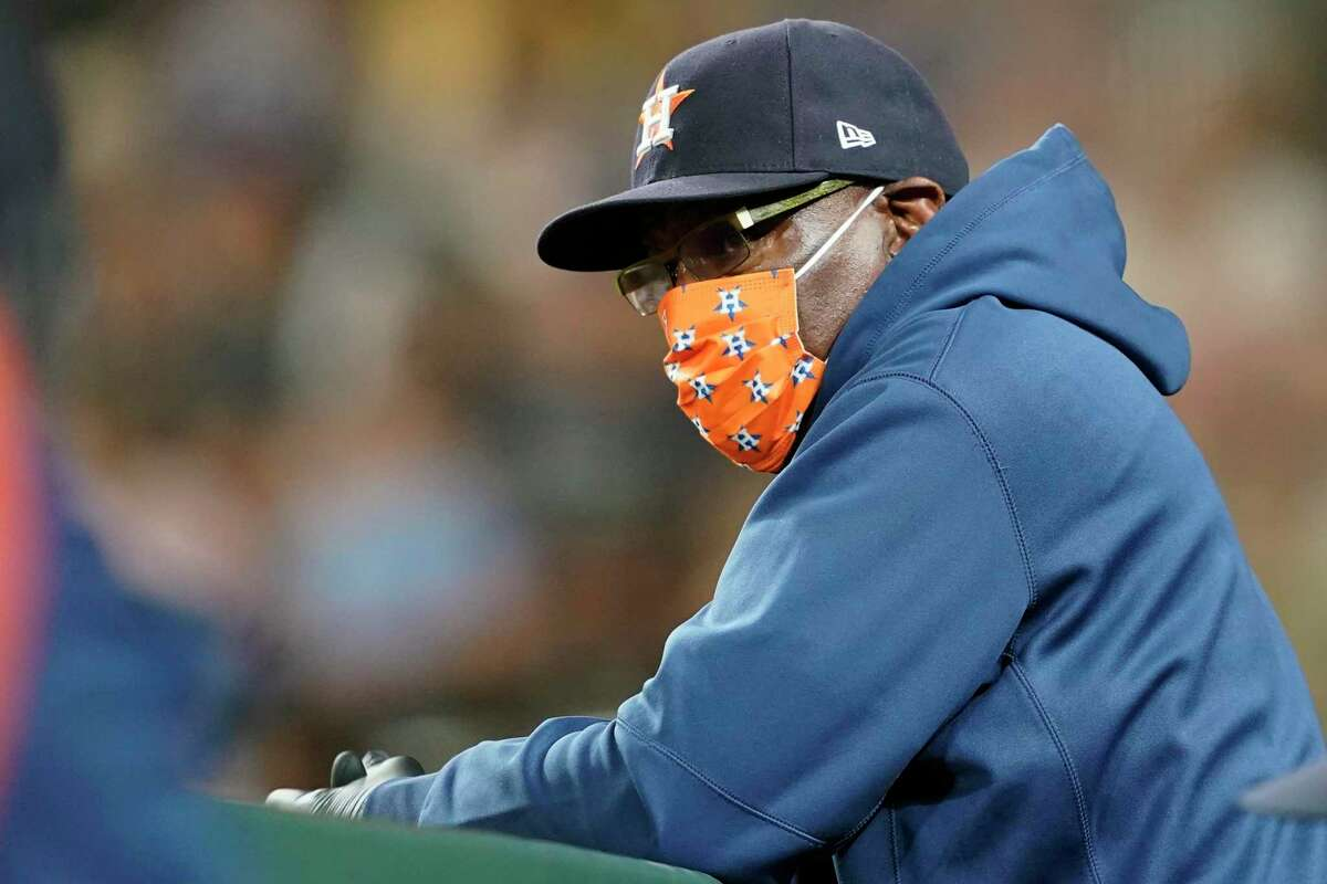 Dusty Baker and the Astros visit the Giants at 1 p.m. (NBCSBA/104.5, 680).