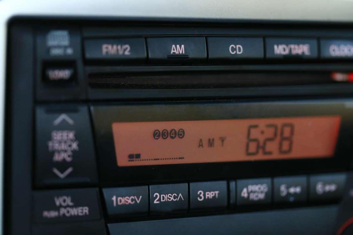 Stock image of a car radio.