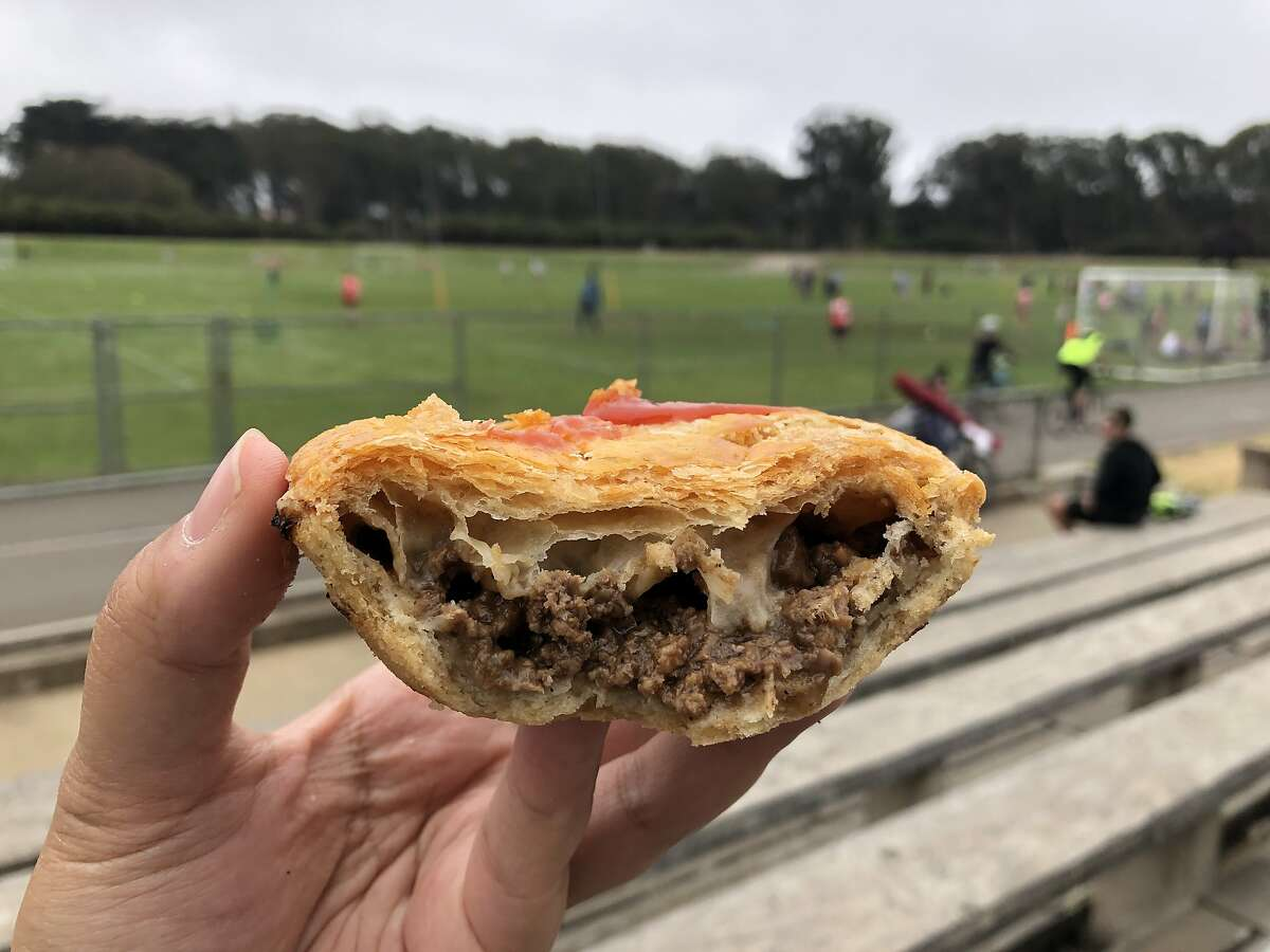 An Australian meat pie from Aussie Pies and Sausages, pictured at Golden Gate Park.