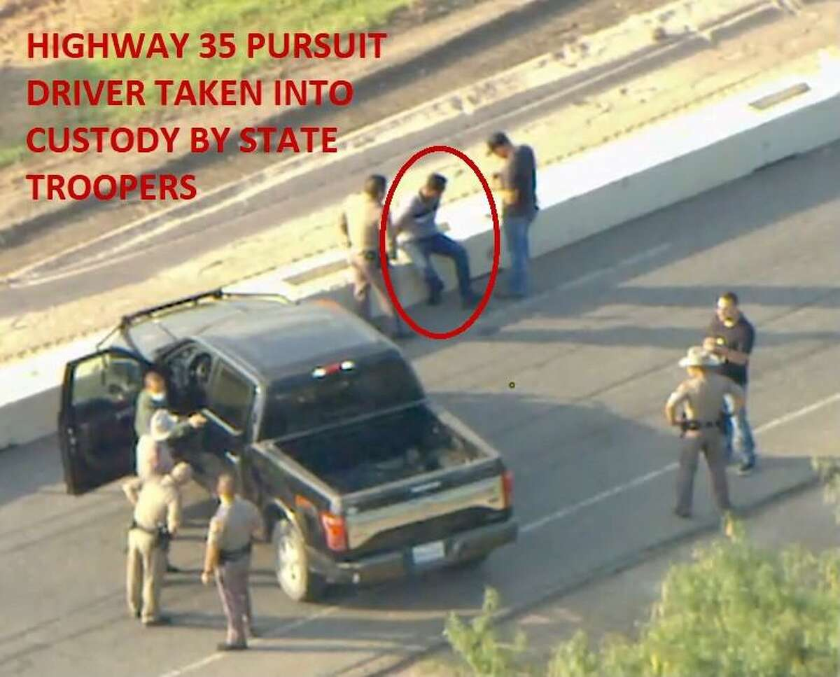 A man has been arrested after driving a vehicle that troopers pursued allegedly containing 10 migrants on Interstate Highway 35 on Friday, July 30, 2021.