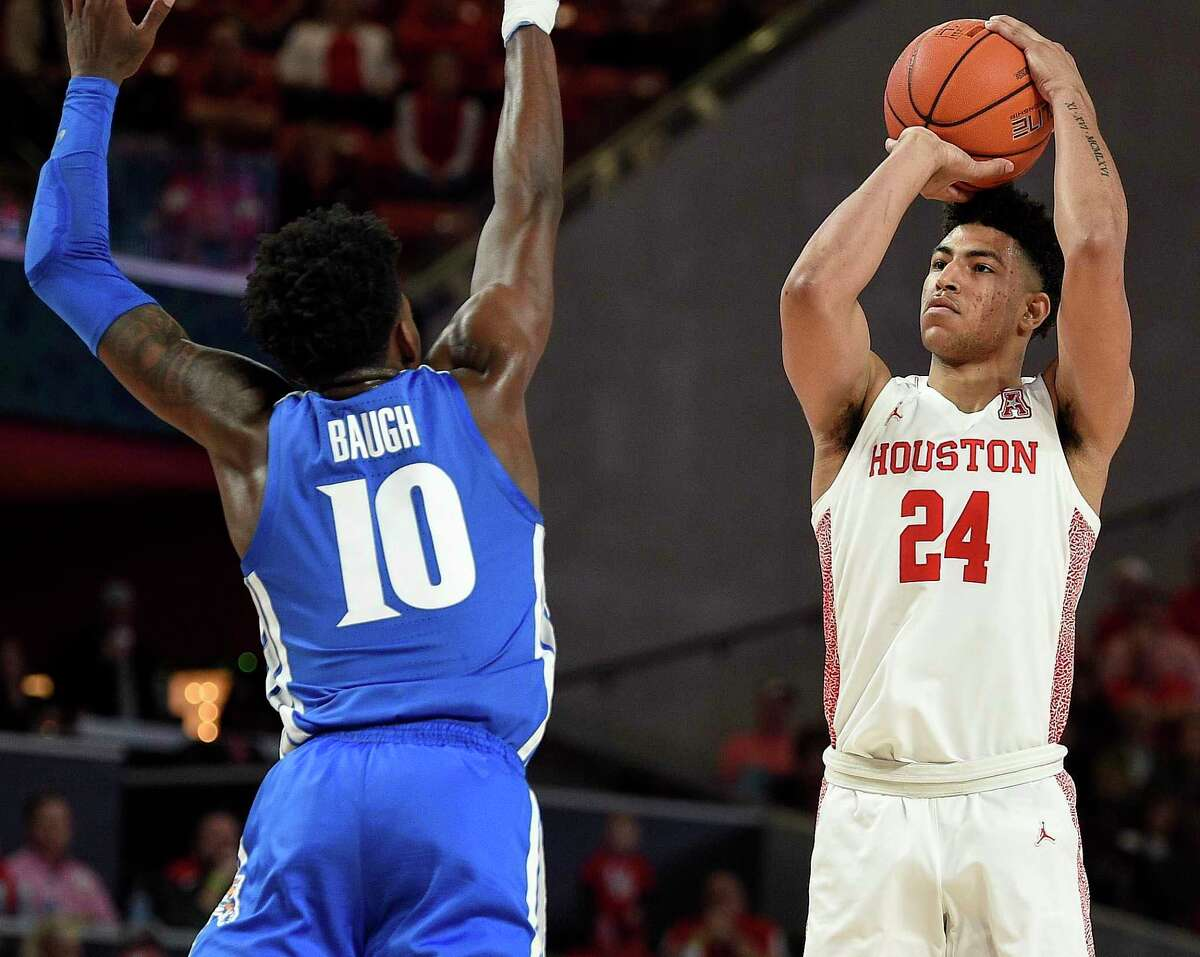 Houston guard Quentin Grimes (24) was drafted 25th overall in Thursday's NBA Draft and will join the New York Knicks.