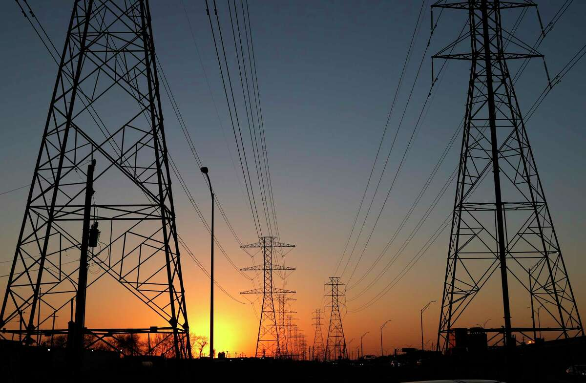 High-voltage transmission towers