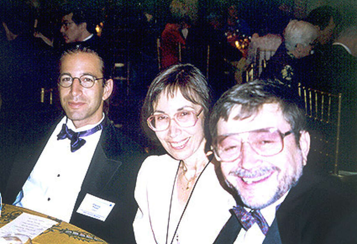 Ruth Pearl with son Daniel, left, and husband Judea in an undated photo. Pearl, who founded the Daniel Pearl Foundation in memory of her son, a Wall Street Journal reporter who was kidnapped and murdered in Pakistan in 2002, has died at 85.