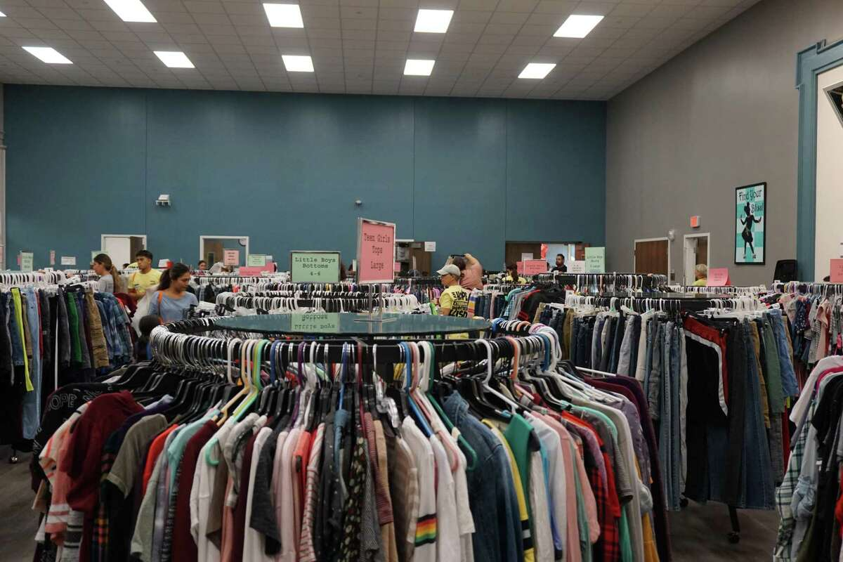 Lamar CISD's Hope on the Brazos event at Common Threads on Friday, July 30, supplied hundreds of the district's students with clothes, uniforms, underwear, socks, shoes, backpacks, supplies and toiletries in preparation for the new school year.