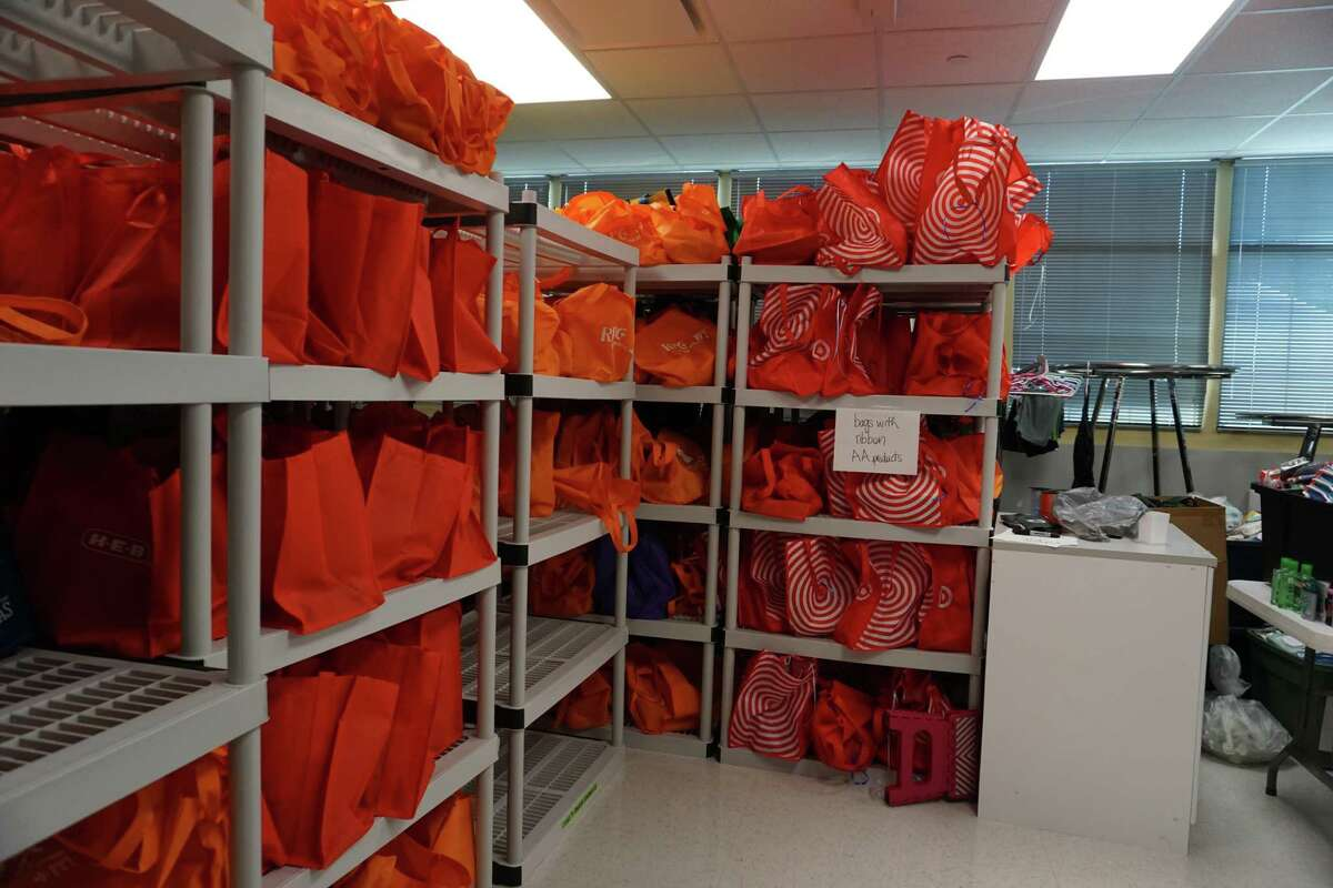 Each Lamar CISD student at the Hope on the Brazos event at Common Threads on Friday, July 30, received a sack of toiletries to use during the new school year.