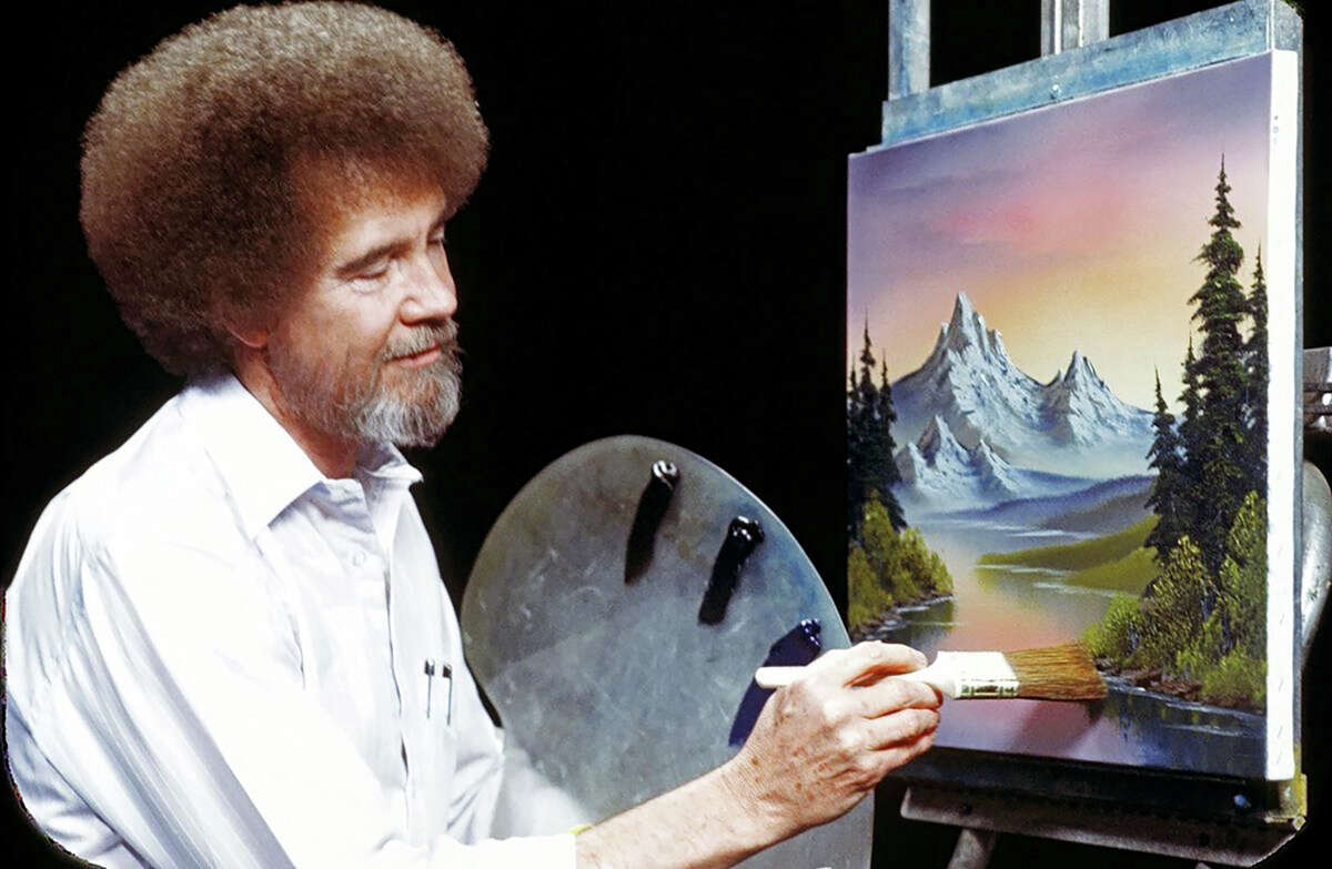 """The late """"Joy of Painting"""" star Bob Ross has become an unlikely celebrity in the streaming age."""